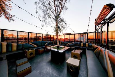 Outdoor Seating with Santa Monica Beach View at ONYX Lounge